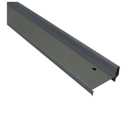 Batente horizontal Rollfor liso 220 cinza ocidente 25mm x 45mm x 0,840m
