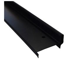 Batente horizontal Rollfor liso 220 preto 25mm x 45mm x 0,840m