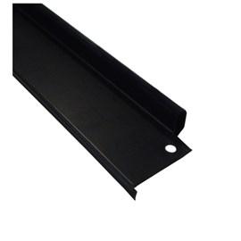 Batente vertical Rollfor liso 220 preto 24mm x 45mm x 2,142m