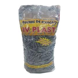 Bucha plástica Ivplast S8 com anel 1000 unidades