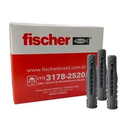 Bucha Plástica UX S8 universal com anel Fischer 8x40mm - pacote 50 unid