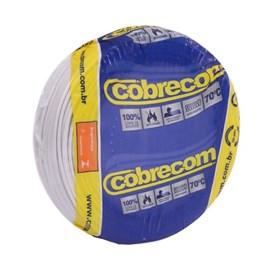 Cabo fio elétrico Cobrecom Flexicom 2,5mm branco 50m