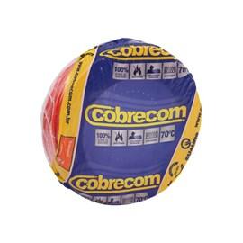 Cabo fio elétrico Cobrecom Flexicom 2,5mm vermelho 50m