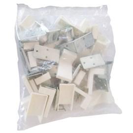 Cantoneira fixação de móveis Albras com capa branca