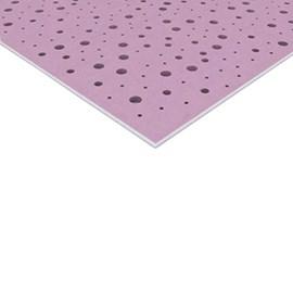Chapa de Gesso Knauf Clean Furação Redondo Aleatório Branco 1200mm x 1875mm x 12,5mm