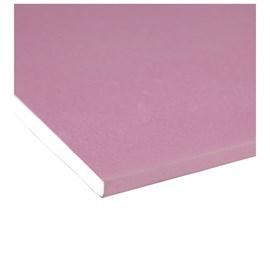 Chapa de gesso para drywall Placo - Knauf RF vermelha 12,5mm x 1,20m x 1,80m