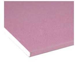 Chapa de gesso para drywall Placo - Knauf RF vermelha 15mm x 1,20m x 2,40m