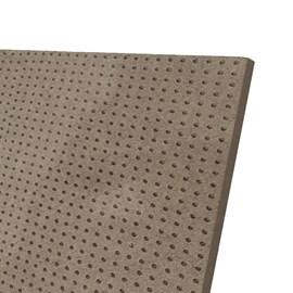 Chapa de MDF Eucatex Madeira Eucadur Perfurada cru 3mm x 1,22m x 2,44m
