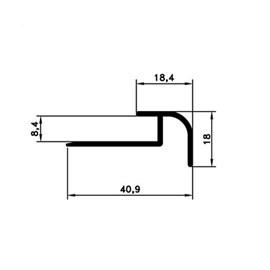 Chapa perfil frontal escada Slim Bauxita T-2000 Bronze 3m