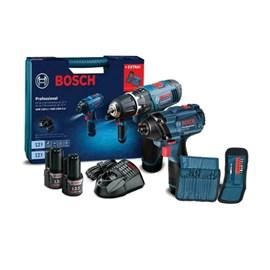 Combo Bosch Chave Impacto GDR 120-LI + Parafusadeira Furadeira GSB 1200-2-LI