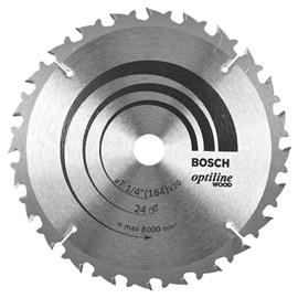Disco de Serra Circular Optiline Bosch 7 1/4 ? 24 Dentes