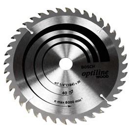 Disco de Serra Circular Optiline Bosch 7 1/4 ? 40 Dentes