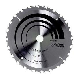 Disco de Serra Circular Optiline Bosch 9 1/4 ? 24 Dentes