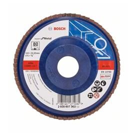 Disco flap para metal Bosch grão 80 4 1/12