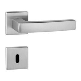 Fechadura banheiro Lockwell Design Quadra cromada 55mm