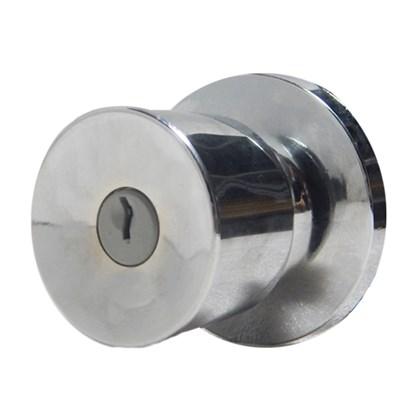 Fechadura botão chave Lockwell 4149 cromada
