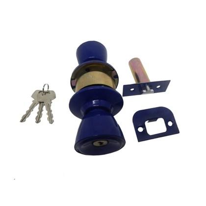 Fechadura botão chave Vouga azul
