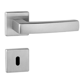 Fechadura interna Lockwell Design Quadra cromada 55mm