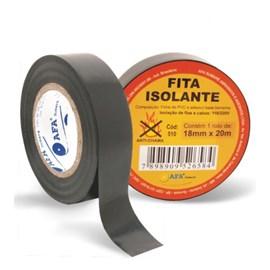 Fita isolante adesiva Braft preta 19mm x 20m