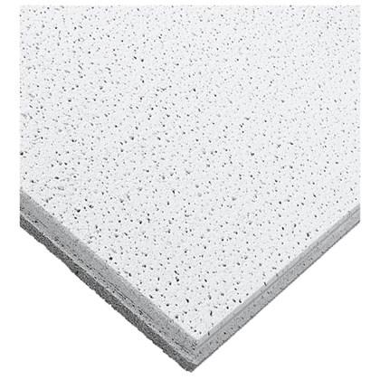 Forro de fibra mineral Armstrong Ceilings Fine Fissured tegular branco 16mm x 625mm x 625mm