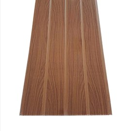 Forro de pvc em régua EspaçoForro Wood Slim novo carvalho 7mm x 25cm x 3,95m