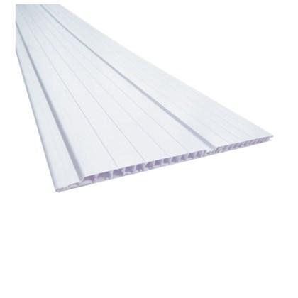 Forro de PVC em régua Plasbil Versatti branco 7mm x 20cm x 4m