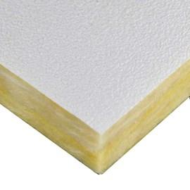 Forro em Lã de Vidro Mistral Isover Branco 15mm 625x1250mm