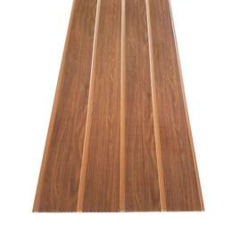 Forro PVC em Régua EspaçoForro Wood Slim Castanho 25cm x 7mm x 3,95m