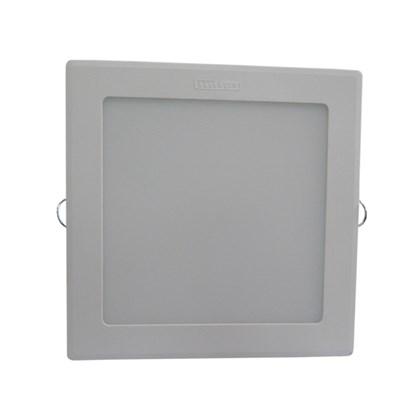 Luminária led embutir Intral Piazza quadrada 185mm x 185mm