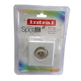 Luminária Spot Intral Quadrado MR11 Branco 64mm