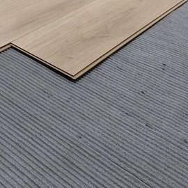 Manta para Piso Laminado Durafloor Reciclada Canelada Rolo com 20m²