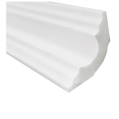 Moldura de isopor roda teto Gart Nomastyl A3 branco 4,2cm x 2m