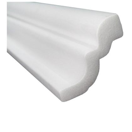 Moldura de isopor roda teto Gart Nomastyl D branco 3cm x 2m