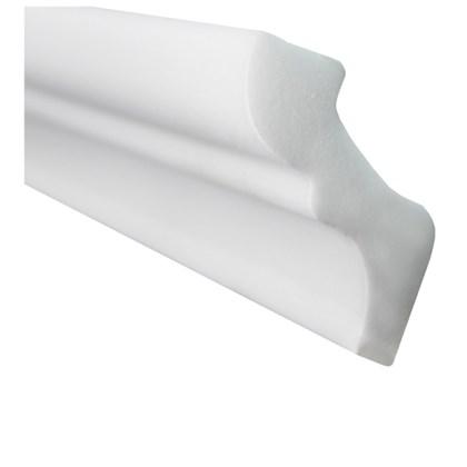 Moldura de isopor roda teto Gart Nomastyl F branco 4,5cm x 2m