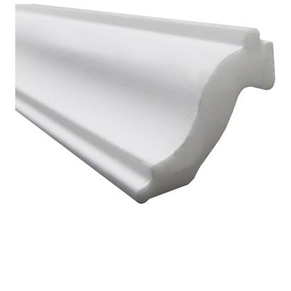 Moldura de isopor roda teto Gart Nomastyl H branco 6,5cm x 2m