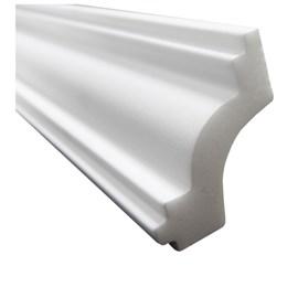 Moldura de isopor roda teto Gart Nomastyl J branco 3cm x 2m