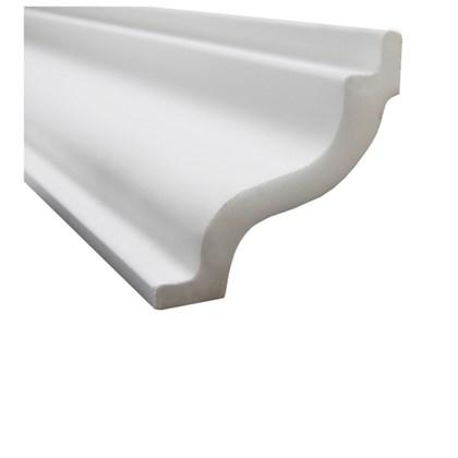 Moldura de isopor roda teto Gart Nomastyl K branco 9,5cm x 2m