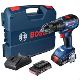 Parafusadeira furadeira de impacto Bosch GSB 18V-50 Li-Ion Brushless 2 baterias