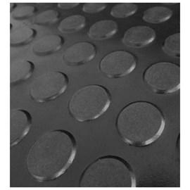 Piso de Borracha Colado Daud Botão Preto 3mm x 500mm x 500mm