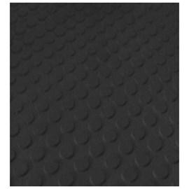 Piso de Borracha Colado Ecosistema Pastilhado Preto 3,5mm x 500mm x 500mm