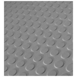 Piso de borracha Ecosistema Pastilhado cinza 3,5mm x 500mm x 500mm