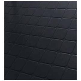 Piso de borracha Ecosistema Quadriculado preto 3,5mm x 500mm x 500mm