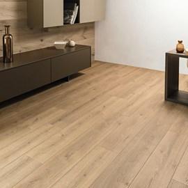 Piso laminado clicado EspaçoFloor Kaindl Comfort oak evoke trend