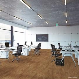 Piso Vinílico Colado EspaçoFloor Office Mild Castanho Viena 3mm