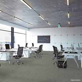 Piso Vinílico Colado EspaçoFloor Office Plus Carpet Gray