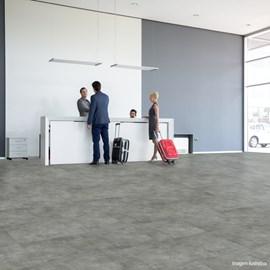 Piso Vinílico Colado EspaçoFloor Office Plus Cement Platinum