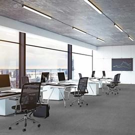 Piso Vinílico Colado EspaçoFloor Office Plus Qartzo Gray