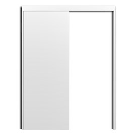 Porta Pronta para Drywall G-Door Standard Germano Madeira Branca 820mm x 2110mm x 11mm