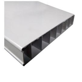 Porta PVC Vipal Cinza 800mm x 2100mm x 35mm