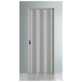 Porta sanfonada Bcf Com fechadura Cinza 60cm x 2,10m